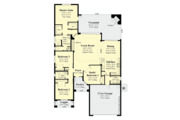 Contemporary Style House Plan - 4 Beds 2 Baths 1920 Sq/Ft Plan #930-494 Floor Plan - Main Floor