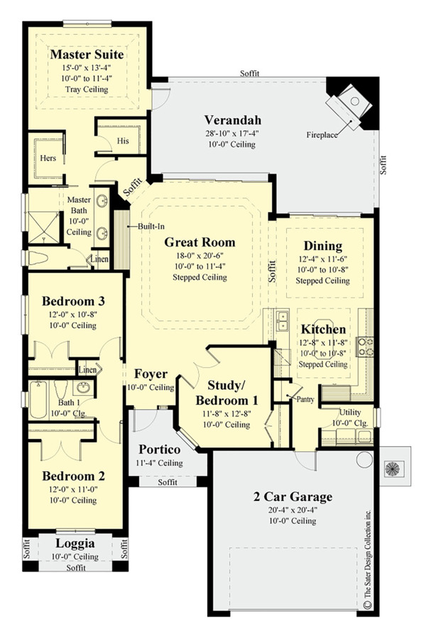 Contemporary Floor Plan - Main Floor Plan Plan #930-494