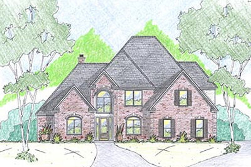 European Exterior - Front Elevation Plan #36-472