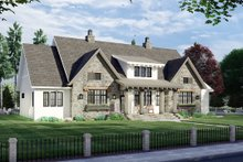 House Blueprint - Farmhouse Exterior - Front Elevation Plan #51-1163