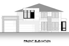 House Plan Design - Contemporary Exterior - Front Elevation Plan #1066-132