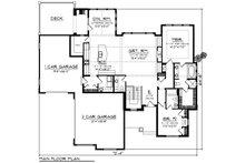 Ranch Floor Plan - Main Floor Plan Plan #70-1420