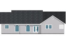 Dream House Plan - Farmhouse Exterior - Rear Elevation Plan #126-187