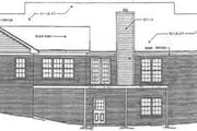 Colonial Style House Plan - 3 Beds 2 Baths 2344 Sq/Ft Plan #10-112 Exterior - Rear Elevation