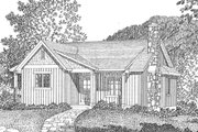 Cottage Style House Plan - 2 Beds 2 Baths 1185 Sq/Ft Plan #22-574 Exterior - Front Elevation
