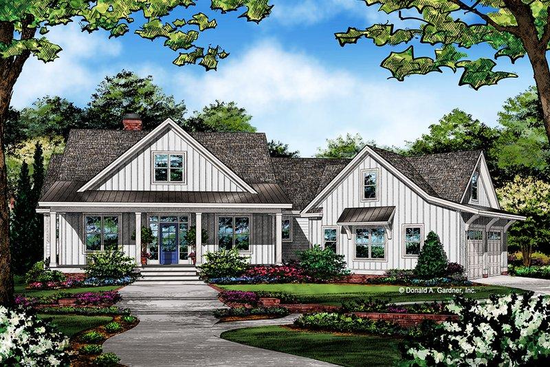 House Plan Design - Farmhouse Exterior - Front Elevation Plan #929-1054