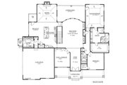 European Style House Plan - 3 Beds 2 Baths 2842 Sq/Ft Plan #437-62 Floor Plan - Main Floor Plan
