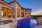 European Style House Plan - 4 Beds 5.5 Baths 6594 Sq/Ft Plan #930-516 Exterior - Rear Elevation