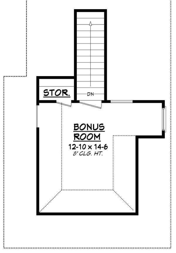European Floor Plan - Upper Floor Plan Plan #430-85