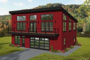 House Blueprint - Modern Exterior - Front Elevation Plan #932-410