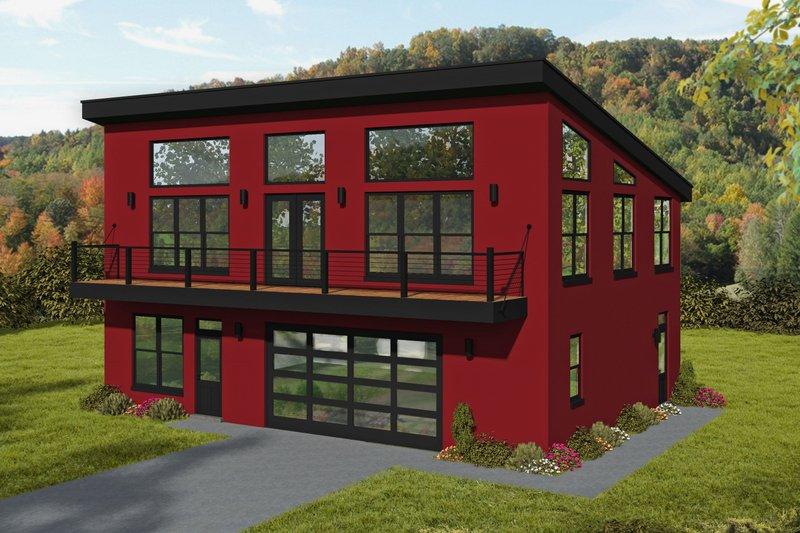Architectural House Design - Modern Exterior - Front Elevation Plan #932-410