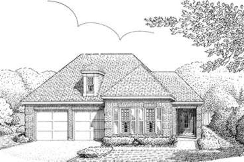 European Exterior - Front Elevation Plan #410-328 - Houseplans.com