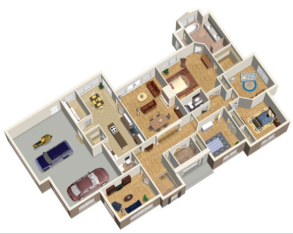 European Floor Plan - Main Floor Plan Plan #25-4446
