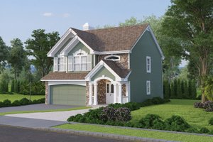 House Plan Design - Country Exterior - Front Elevation Plan #57-319