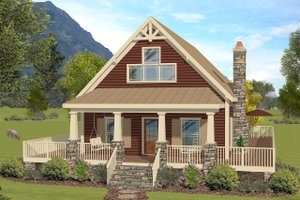 Craftsman Exterior - Front Elevation Plan #56-724