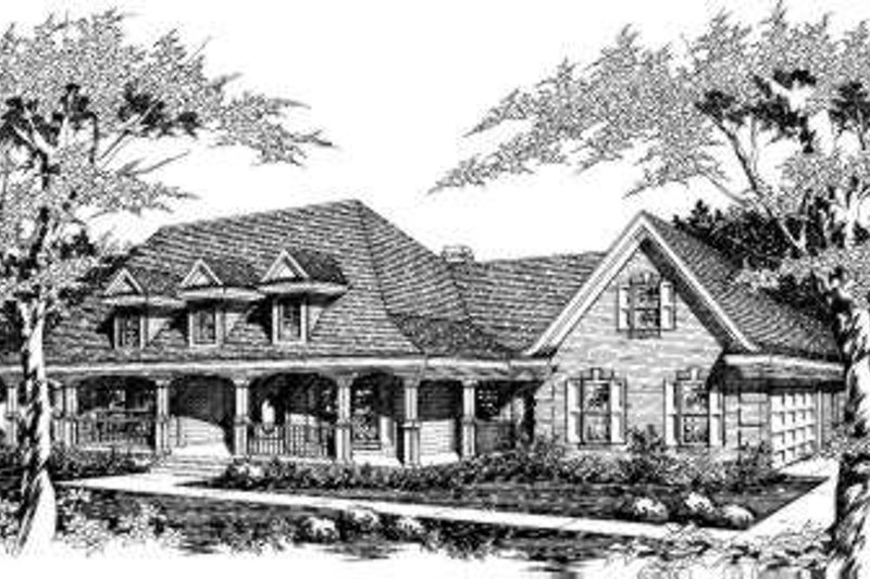 Southern Style House Plan - 3 Beds 2.5 Baths 2289 Sq/Ft Plan #329-129 Exterior - Front Elevation