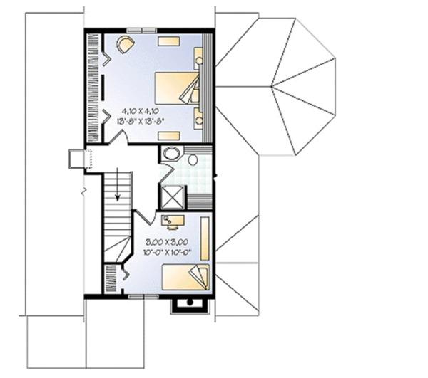 Cottage Floor Plan - Upper Floor Plan #23-614