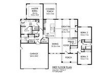Ranch Floor Plan - Main Floor Plan Plan #1010-242