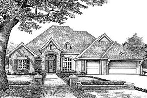 European Exterior - Front Elevation Plan #310-857