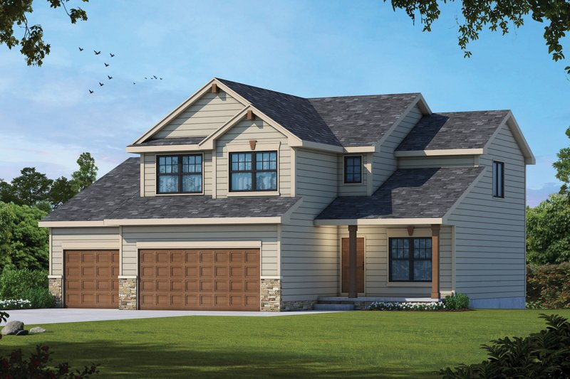 Home Plan - Traditional Exterior - Front Elevation Plan #20-2481