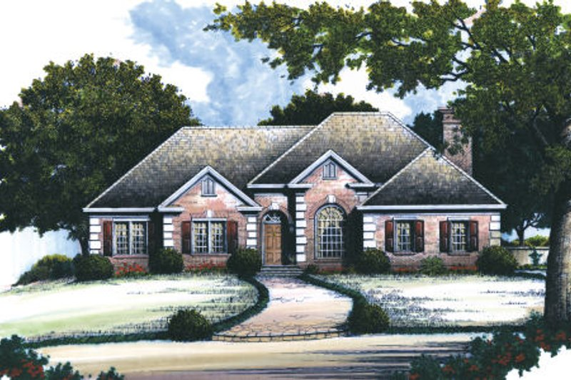Traditional Exterior - Front Elevation Plan #429-30 - Houseplans.com