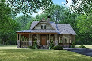 Craftsman Exterior - Front Elevation Plan #923-141