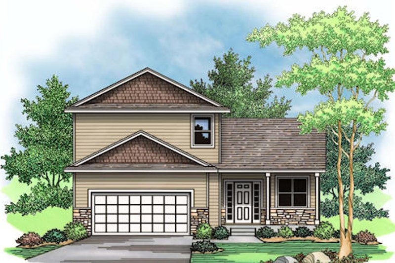 Traditional Exterior - Other Elevation Plan #51-376 - Houseplans.com