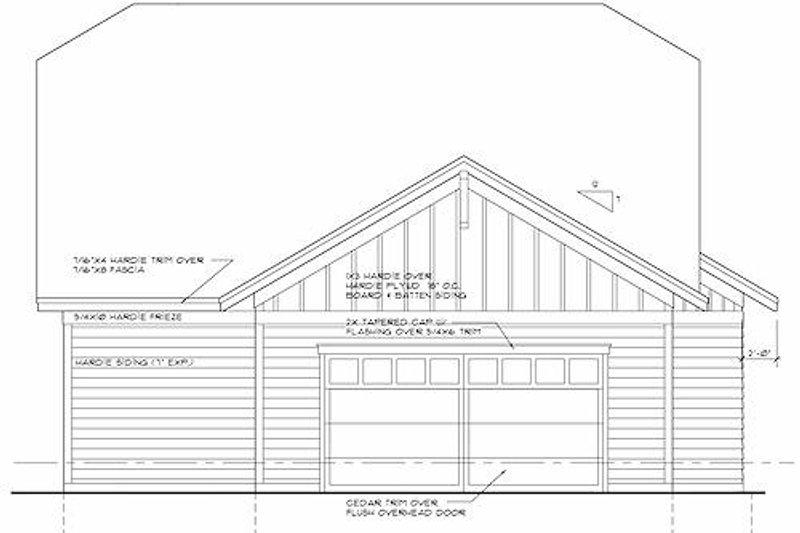 Craftsman Exterior - Rear Elevation Plan #51-345 - Houseplans.com