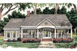 Architectural House Design - Southern Exterior - Front Elevation Plan #406-263