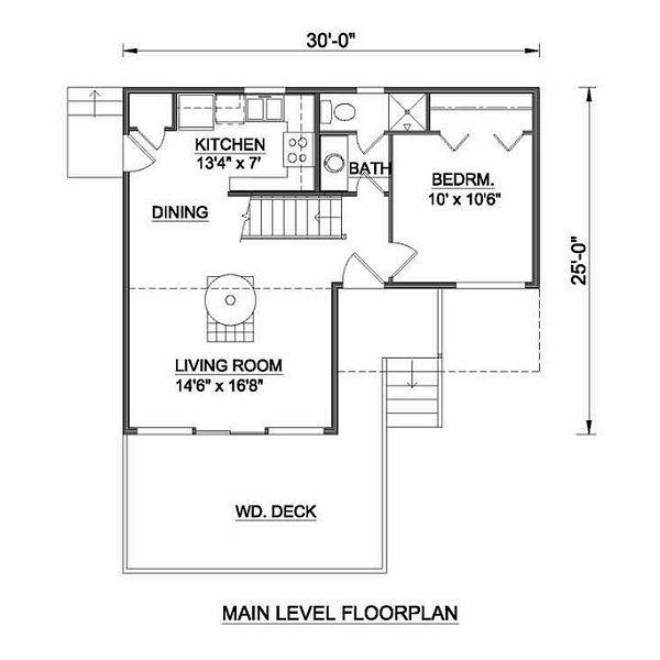 Modern Floor Plan - Main Floor Plan #116-103