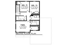 Modern Floor Plan - Upper Floor Plan Plan #70-1456