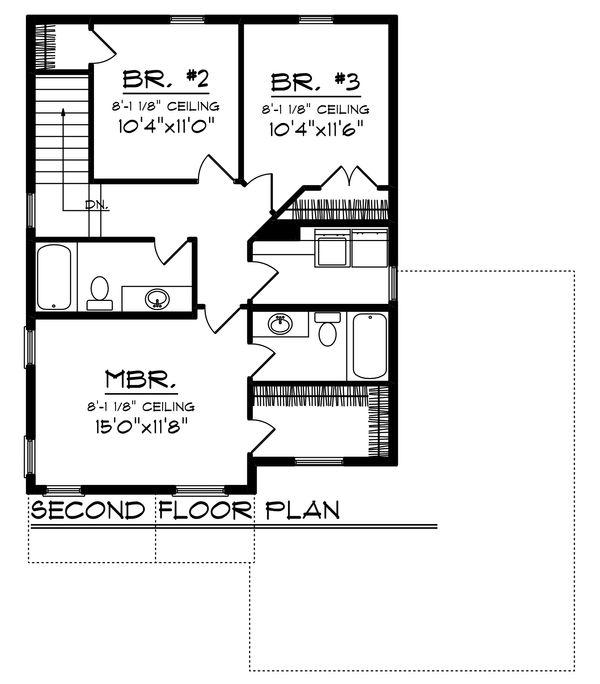 Modern Floor Plan - Upper Floor Plan #70-1456