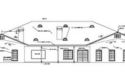 Ranch Style House Plan - 5 Beds 5.5 Baths 4949 Sq/Ft Plan #1-929 Exterior - Rear Elevation