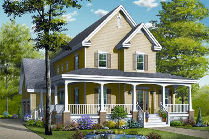 Farmhouse Exterior - Front Elevation Plan #23-840