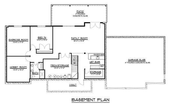 Home Plan - Craftsman Floor Plan - Lower Floor Plan #1064-59