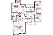 Traditional Style House Plan - 3 Beds 3 Baths 2982 Sq/Ft Plan #63-352 Floor Plan - Main Floor Plan