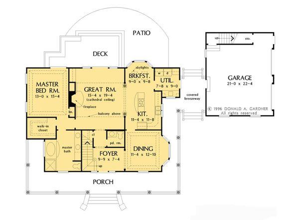 House Design - Country Floor Plan - Main Floor Plan #929-1062