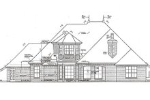 Home Plan Design - Tudor Exterior - Rear Elevation Plan #310-967