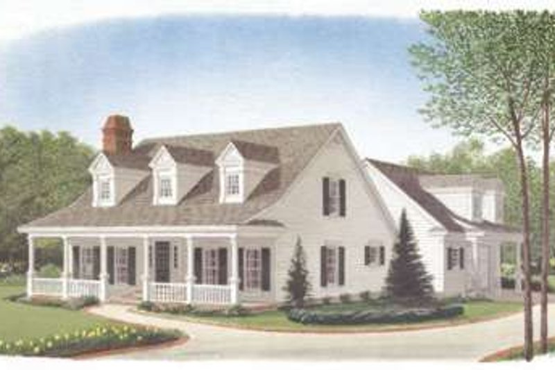 Southern Exterior - Front Elevation Plan #410-167