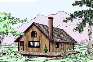 Architectural House Design - Traditional Exterior - Front Elevation Plan #60-536