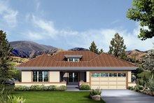 Dream House Plan - Mediterranean Exterior - Front Elevation Plan #57-679