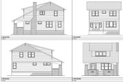 Craftsman Style House Plan - 3 Beds 2.5 Baths 2175 Sq/Ft Plan #461-68 Exterior - Other Elevation