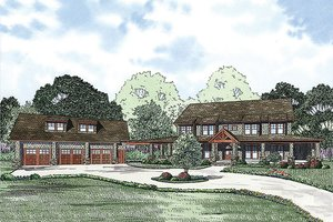 Country Exterior - Front Elevation Plan #17-2398