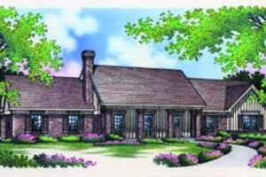 Traditional Exterior - Front Elevation Plan #45-202