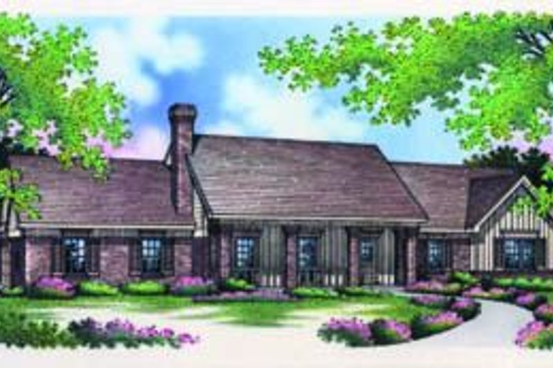Home Plan Design - Traditional Exterior - Front Elevation Plan #45-202