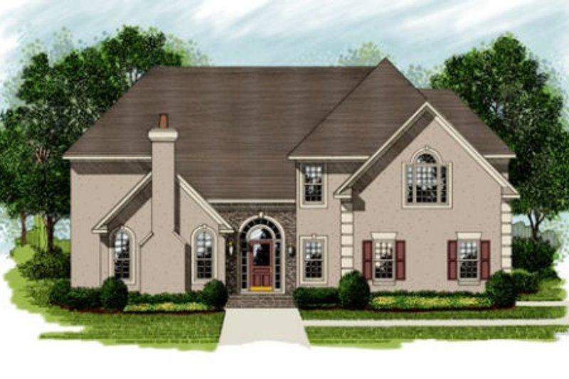 Dream House Plan - European Exterior - Front Elevation Plan #56-227
