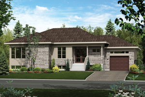 Contemporary Exterior - Front Elevation Plan #25-4335