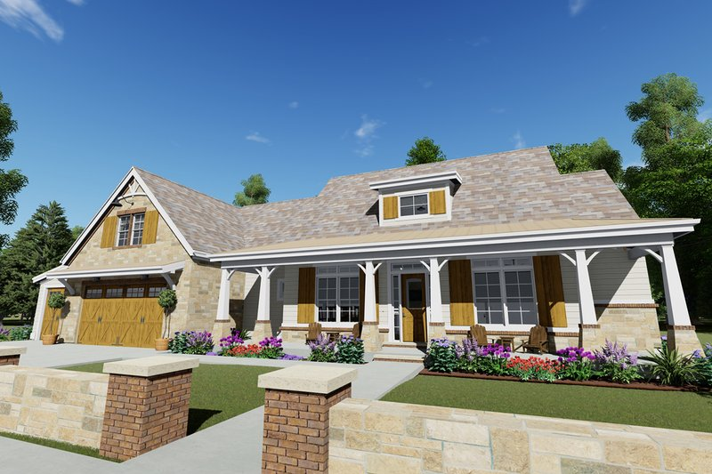 Farmhouse Style House Plan - 3 Beds 4 Baths 2593 Sq/Ft Plan #1069-19 Exterior - Front Elevation