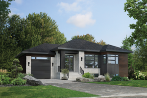 Contemporary Exterior - Front Elevation Plan #25-4901