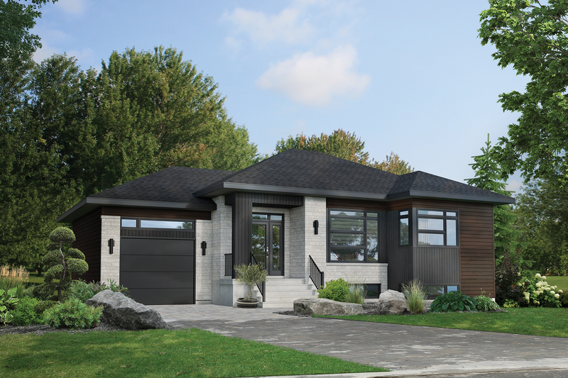 Home Plan - Contemporary Exterior - Front Elevation Plan #25-4901